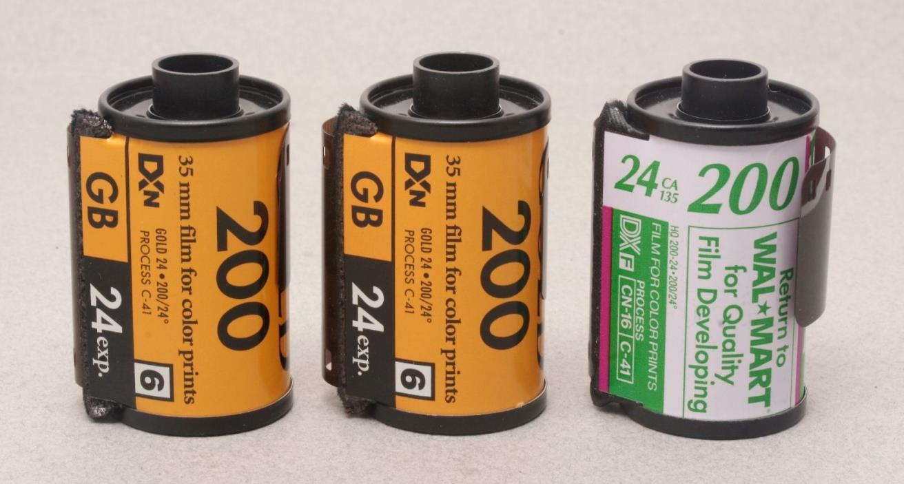 35mm Color Print Film, 3 rolls, 24 exposure – expired