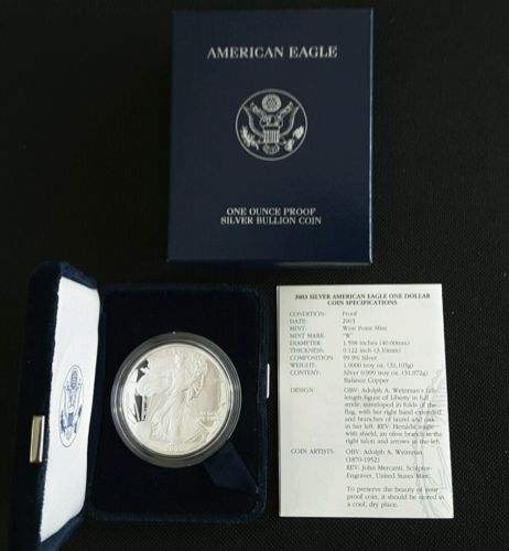 2003 AMERICAN SILVER EAGLE PROOF!!!