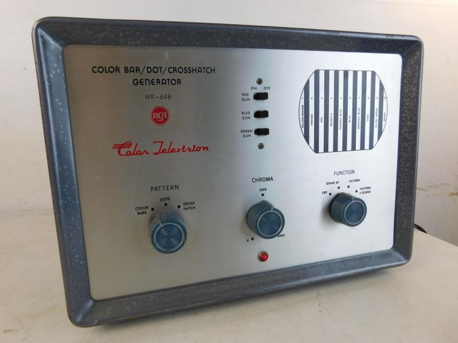 Vintage RCA Color Bar Dot Crosshatch Generator WR-64B TV Television Tool Box