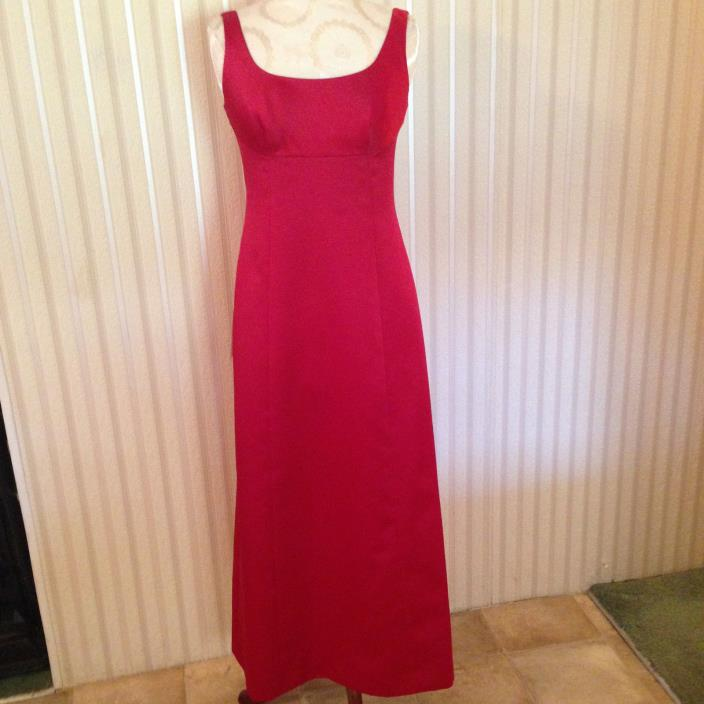 NWT Ann Taylor Red Formal Long Wedding Party Bridesmaid Dress Size 2 Petite