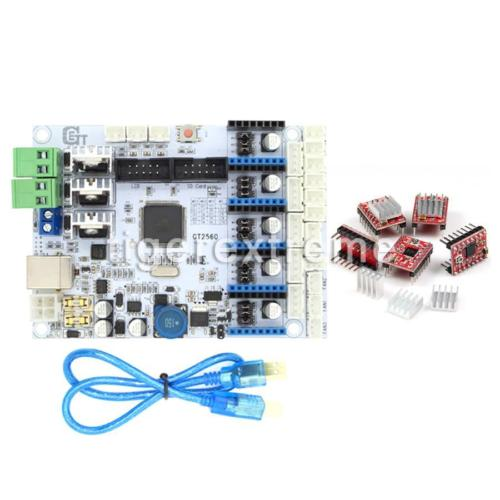 US!Geeetech 3D Printer Kit GT2560 Controller Motherboard+5Pcs A4988 Drive Module