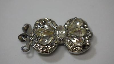 Vintage c1930's Rhinestone Butterfly Clasp a/f