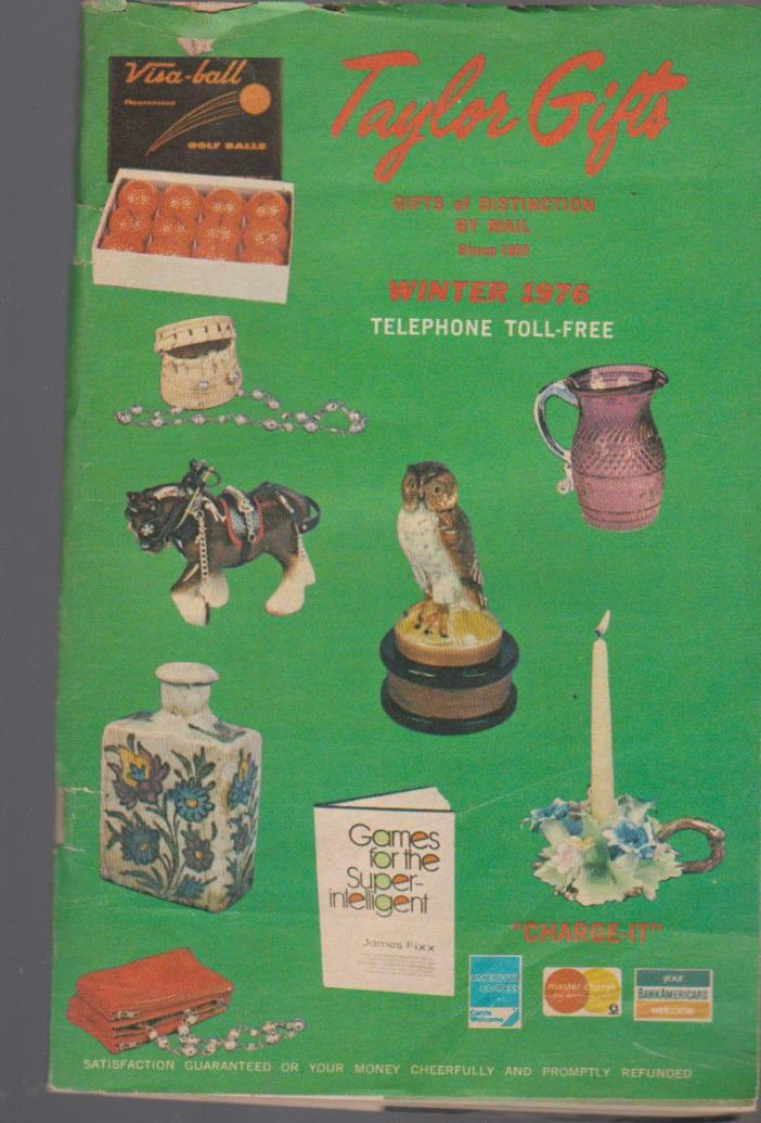 Taylor Gifts Winter 1976 Catalog Gifts of Distinction