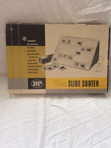 Vintage 35mm Slide Sorter With Box