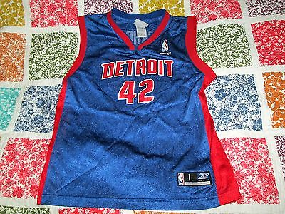 Detroit Pistons Jerry Stackhouse NBA Jersey Reebok youth large
