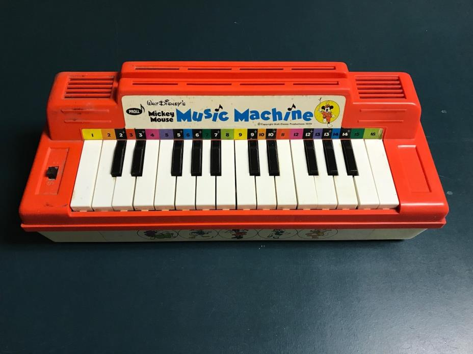 Proll 1979 Walt Disney's Mickey Mouse Music Machine Organ / Piano