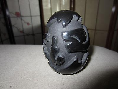 Santa Clara pottery egg