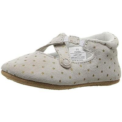 Rosie Pope 5155 Gray Infant Suede Ballet Flats Shoes 1 Medium (B,M) 0-3 MO BHFO