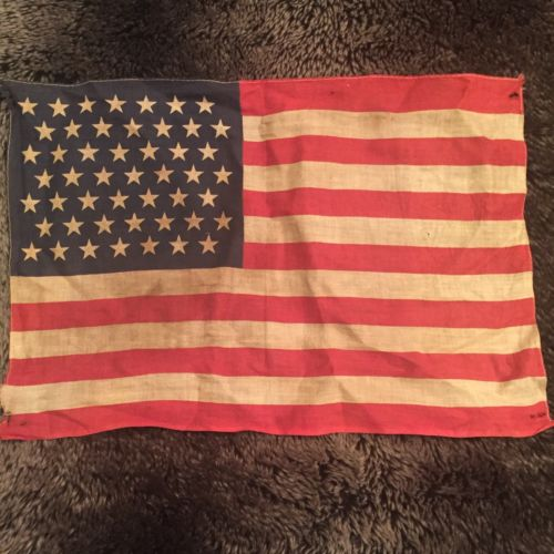 Rare 49 Star American Cloth Flag 11
