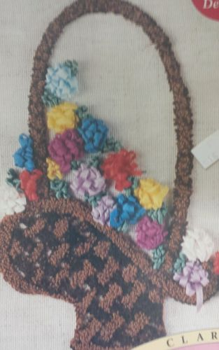 Punch Embroidery Ribbon Flowers Floral Craft Needlework Stitch Sew NEW Basket