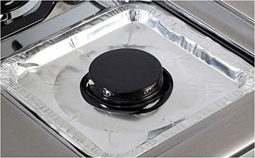 Stove Top Liners Gas Burner Drip Pan Foil Durable Strong Cleanup Disposable 40Ct