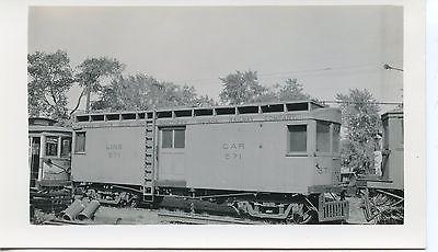 6E612 RP 1940s? CSS&SB CHICAGO SOUTH SHORE SOUTH BEND RAILROAD LINE CAR #571