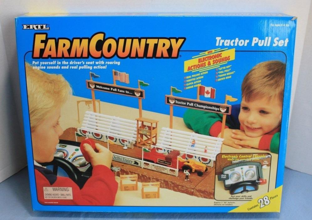 Ertl Farm Country Tractor Pull Set NIB Brand New 1/64 Set 4220 SHIPS NEXT DAY!