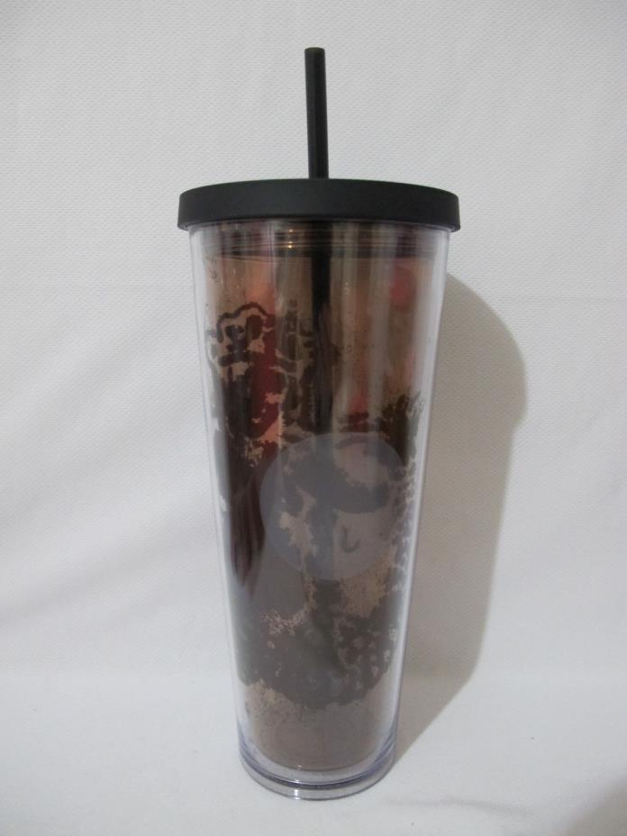 NWT Starbucks Black Siren Eye Venti Plastic Tumbler Cup 24 fl oz RARE/FREE SHIP