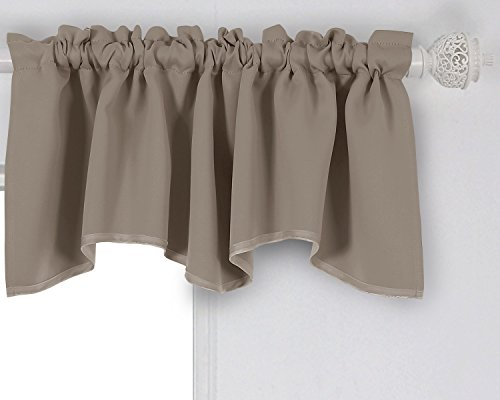 Deconovo Decorative Rod Pocket Blackout Curtains Valances Window Treatments