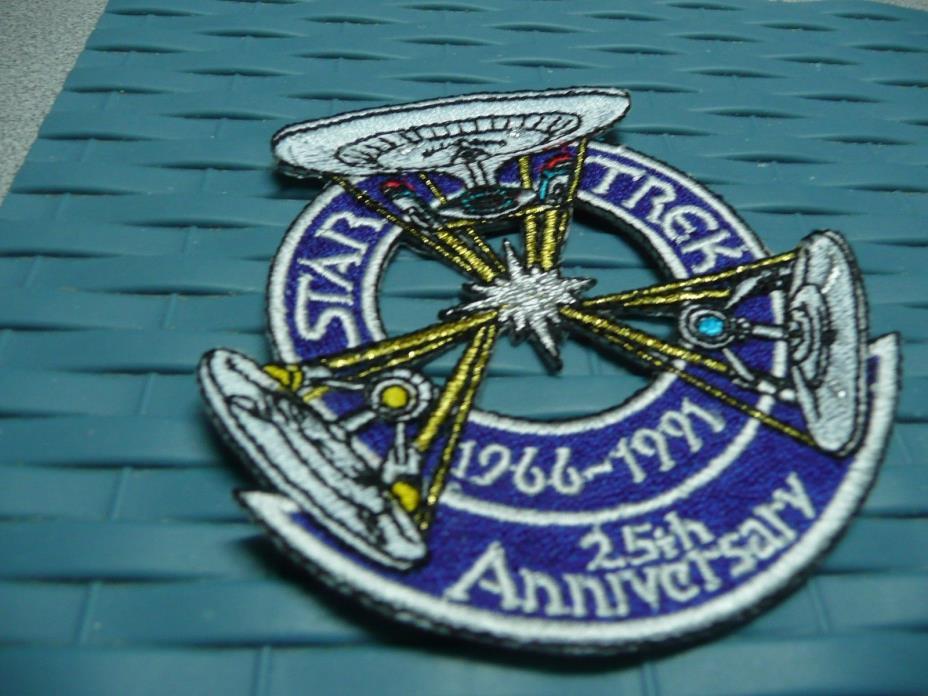 Star Trek 25th Anniversary 3 Enterprise Patch, Rare 1966 - 1991