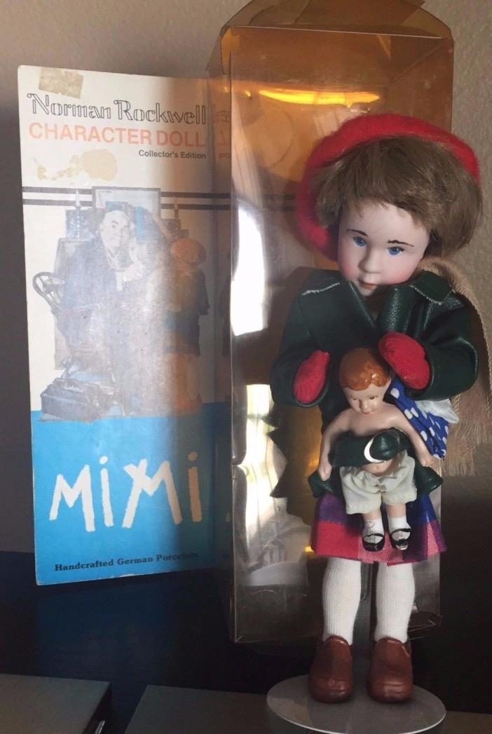 MIMI Norman Rockwell Character Doll Series Handcrafted Germany Porcelain NIB