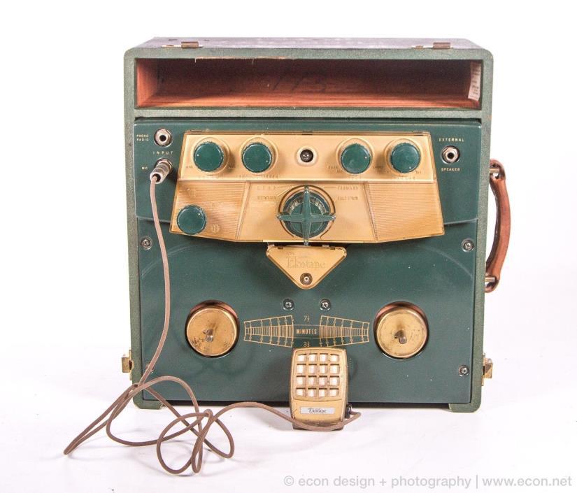 1950s VINTAGE WEBSTER ELECTRIC EKOTAPE 230 OPEN REEL TO REEL TUBE TAPE RECORDER