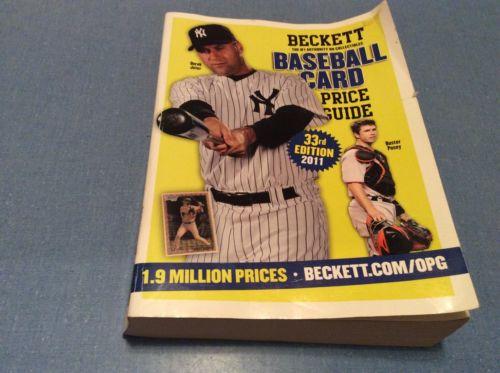 Beckett Baseball Card Price Guide 2011 33rd Edition Derek Jeter