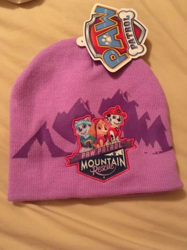 New Paw Patrol Purple Knit Beanie Cap Hat Free Shipping Girls