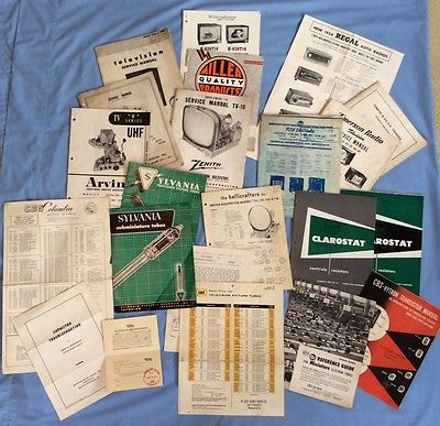 Vintage TV Radio Tube Repair Brochures Manuals RCA Zenith Sylvania CBS