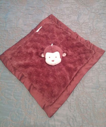 KIDSLINE brown monkey lovey security baby blanket toy EUC