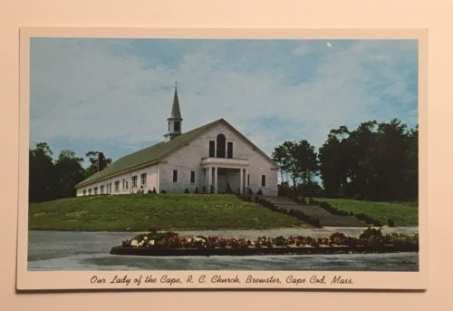 Our Lady of the Cape Roman Catholic Church Postcard - Vintage Brewster, Cape Cod