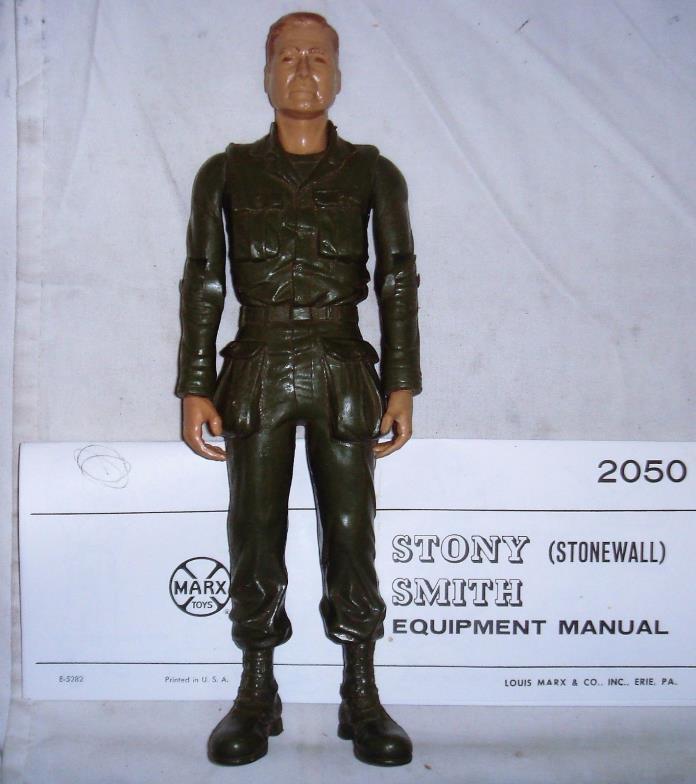 Vintage Stonewall Stoney Smith Battle Figure gi Manual Johnny West gi joe Stony