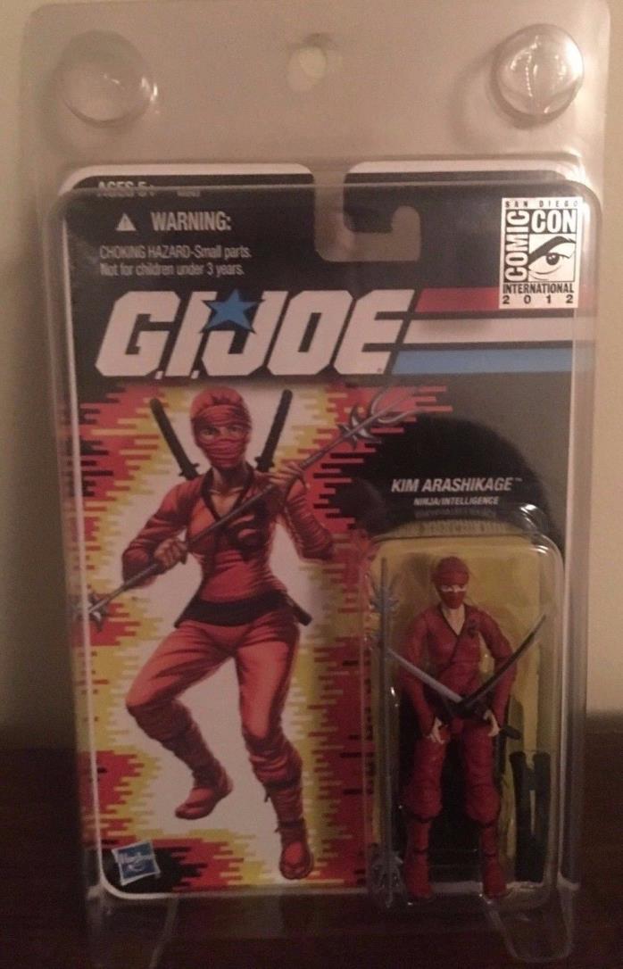 Gi Joe SDCC Comic Con Exclusive Kim Arashikage Red Ninja Intelligence Moc