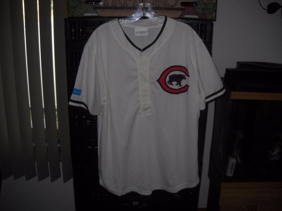 MLB*CHICAGO-LETS GO CUBS*100 YEARS WRIGLEY FIELD-THROWBACK JERSEY***07-06-16****