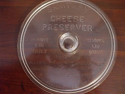 Vintage 1930s Cheese Preserver with Lid-Glass.