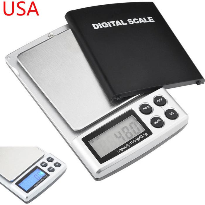 0.1-2000 Gram / Oz / Ozt / Ct Pocket Scale Digital Postal Coin Weight Electronic