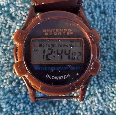 Vintage Nintendo Sports Wristwatch 1997 Glowatch Stopwatch Alarm Stopwatch