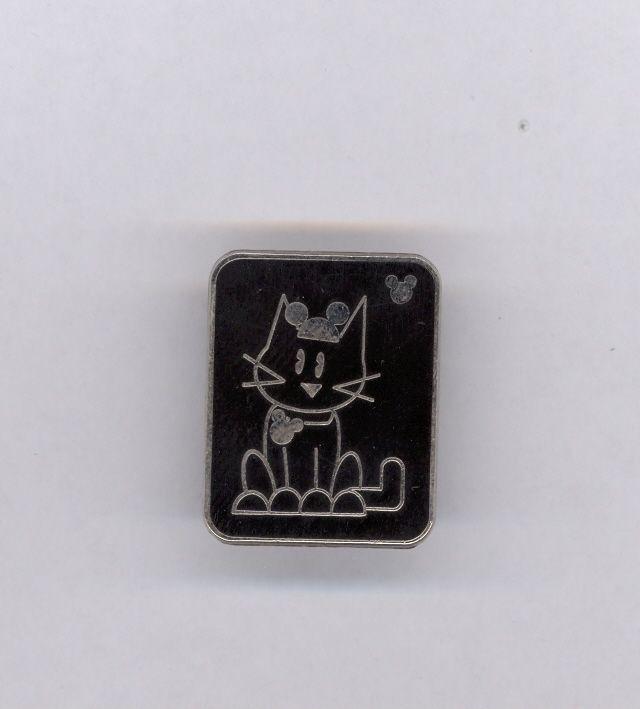 WDW Disney Kitty Cat Wearing Mouse Ears Ear Hat Cast Lanyard Hidden Mickey Pin