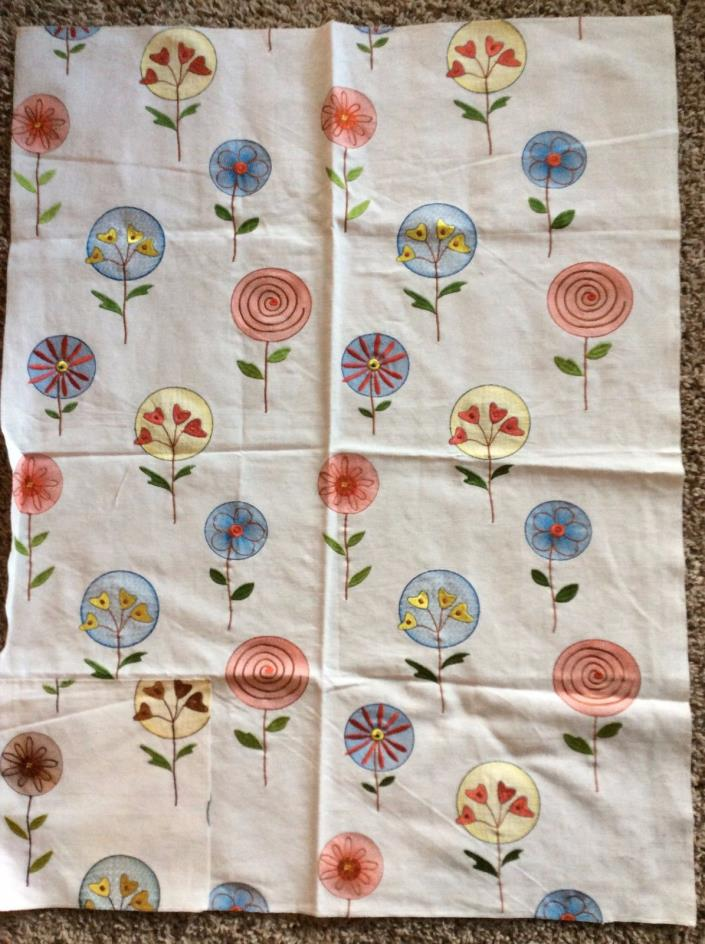 Fancy Work Cotton EMBROIDERED Floral Fabric Sample
