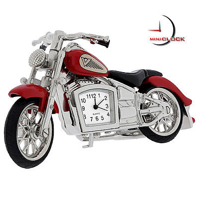 Miniature Clock, Red & Black INDIAN MOTORCYCLE