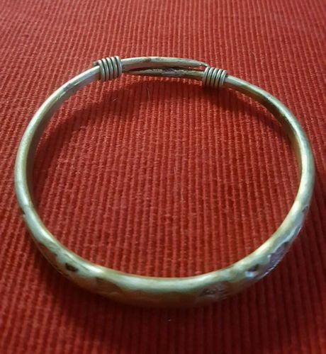 Antique Chinese Koi Fish Bangle Bracelet Signed 30g