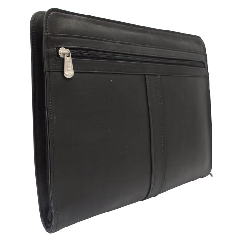 Piel Leather Three-Way Envelope Padfolio, Black, One Size
