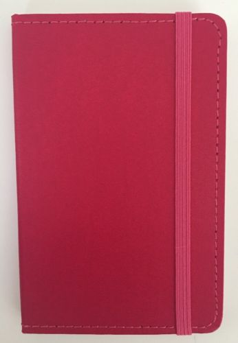 New Small Hardcover Pocket Notebook Journal 192 Pages 5.5 x 3.5 Ruled Pink