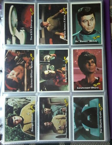 1976 TOPPS Star Trek Complete Trading Card Set 88 Cards & 72 Reprints Lot