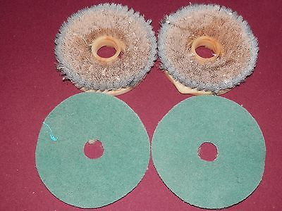 Vintage Floor Scrubber Brushes, Polisher Buffer Pads Lot Of 4