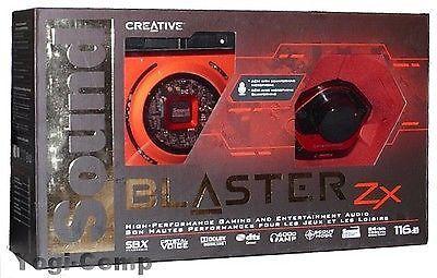 Creative Sound Blaster Zx SBX PCIE Gaming Sound Card   Audio Control Module