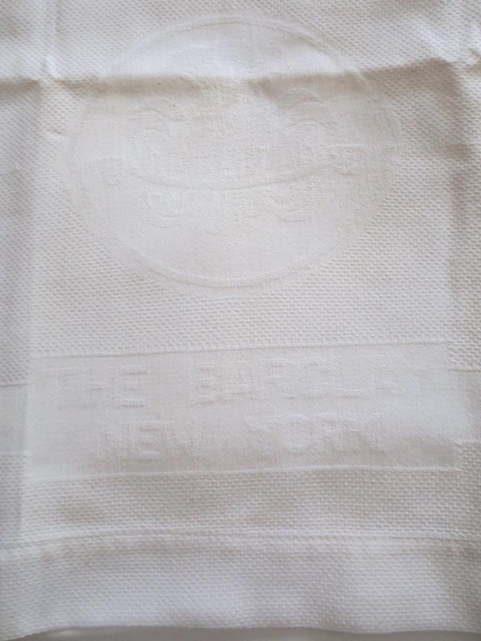 Antique Huckaback  'The Barclay' Hotel Towel New York