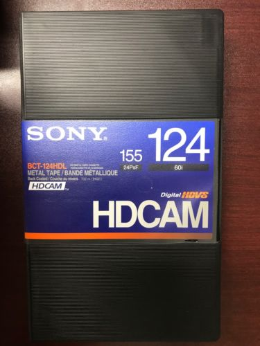 Sony BCT-124HDL HDCAM Videocassette Tape Large Qty 5  NEW
