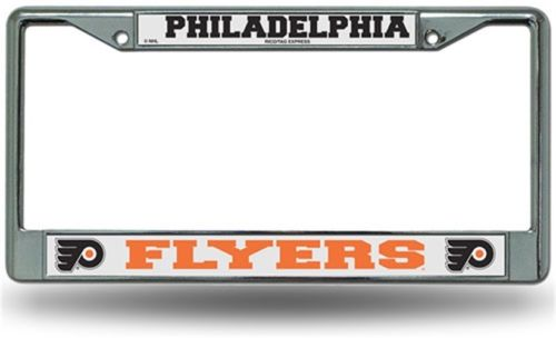 Chrome License Plate Frame - Philadelphia Flyers