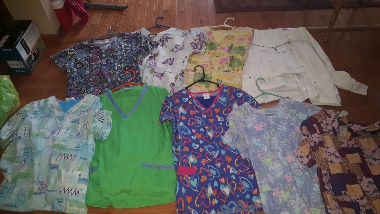 Lot womens scrubs size medium and large.