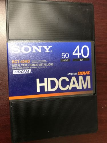 Sony HD-Cam tapes BCT-40HD Lot Of 2 . Brand New