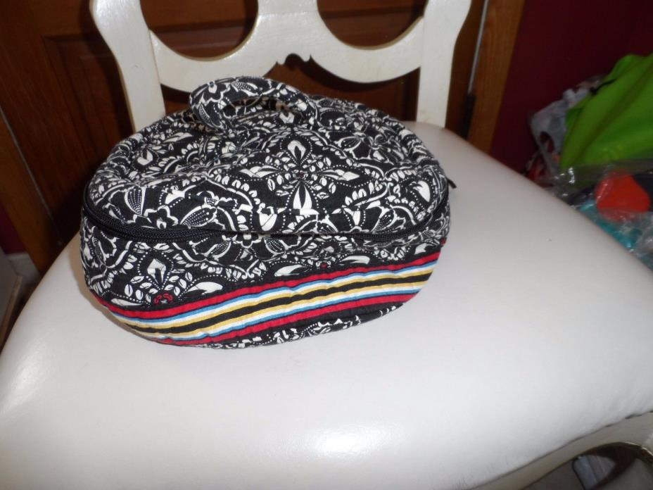Vera Bradley Home and away round cosmetic bag in retired Barcelona pattern