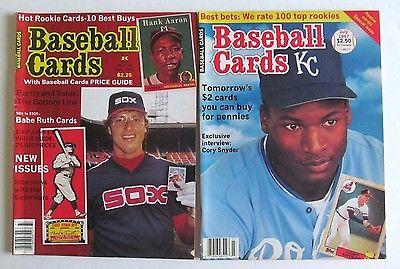 2 1983 & '87 Baseball Card Price Magazines - BO JACKSON , RON KITTLE , BABE RUTH