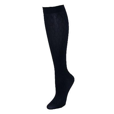 New Jefferies Socks Women's Compression Dress Sock with Diamond Pattern